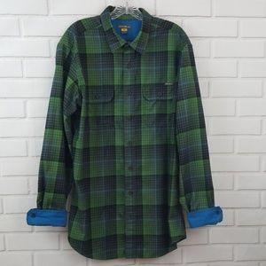 Eddie Bauer Tall Plaid Flannel Button Down Shirt